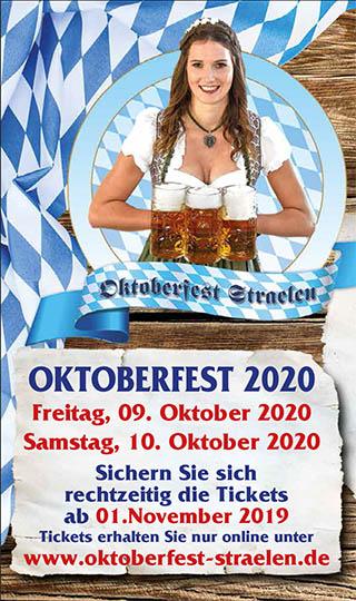 Tickets für Oktoberferst in Straelen